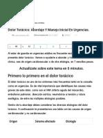 Dolor Torácico_ Abordaje y Manejo Inicial en Urgencias