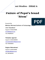 Failure of Pepsi's Brand 'Atom' and Inflation is the Stuation of Price Rise