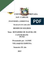 322607574 Botadero de Basura de Cancharani de La Ciudad de Puno