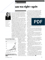 Ben Graham Right Again by David Dreman Forbes May 6, 1996
