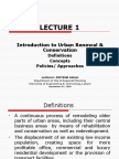 Introduction to Urban Renewal & Conservation