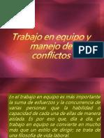 Equipo y Manejo de Conflictos