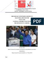 Preliminary Report on National Assembly Elections 2018-Kingdom of Cambodia