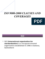 Iso 9000-2000  clause's and coverages
