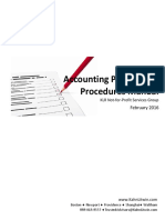 Accounting Policy Procedure Manual