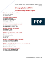 Geography of World Solved MCQs (for CSS, PMS, NTS) GK Paper _ (Part-1)