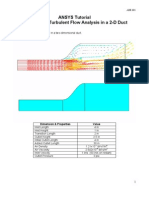 Ansys Flotran 2d Duct Example