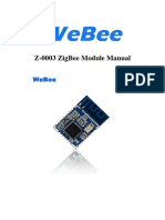 WeeBee Z-0003 ZigBee Module Manual