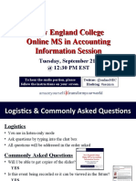 New England College MS in Accounting Sept 21st Information Session