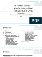 Kiat Sukses Akreditasi RS 2018