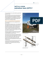 What is a Cone Penetration Test