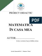 5 Proiect Didactic Matematica in Casa Mea
