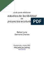 2001-03 Estudios de ad de Proyectos Ecoturisticos-Guatemala