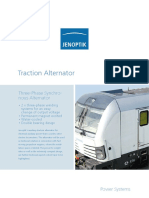 Traction Alternator Three Phase Synchronous 2015