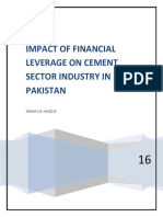 IMPACT OF FINANCIAL LEVERAGE ON CEMENT SECTOR INDUSTRY