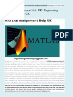 MATLAB Assignment Help UK