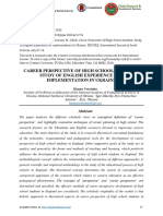 Career Perspective of High School Students- Study of English Experience for Implementation in Ukraine