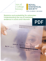 Understanding the Use of Statistical Eveidence in Courts and Tribunals