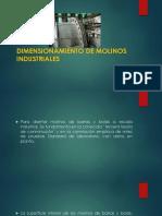 Dimensionamiento de Molinos Industriales