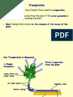 4 Transpiration