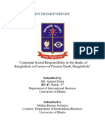 """Corporate Social Responsibility in the Banks of Bangladesh in Context of Premier Bank, Bangladesh"""