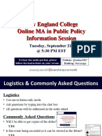 New England College MA in Public Policy Sept 21st Info Session
