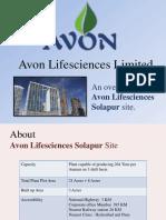 Avon Lifesciences Solapur - Site Overview