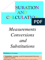 Measurements, Conversions, And Substitutions [Group 3]