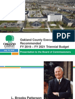 OAKLAND COUNTY BUDGET PRESENTATION