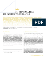 Evaluación Pragmatica de Politicas Publicas