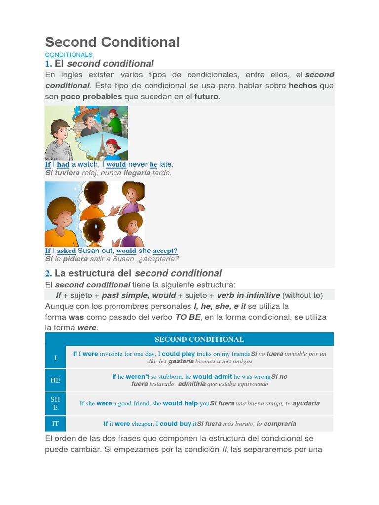 Second Conditional Lingüística Sintaxis