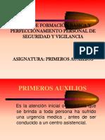 C.F.B y P. SUCAMEC Primeros Auxilios 2015- 2017