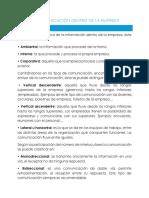 Tipos de Comunicación Dentro de La Empresa