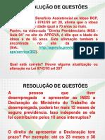 Direito e Legislacao Previdenciaria Inss Revisao 03
