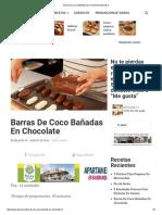 Barras de Coco Bañadas en Chocolate _ Delicias