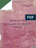 Estudio Suelos Del Callejon de Conchucos