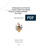Structural Relaxation and Thermal Characteristics of Spin-Cast Glassy Polymer & Nanocomposite Thin Films