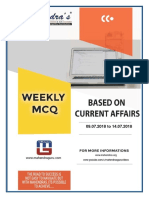 Weekly Current Affairs English 14.07.18