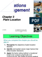 Chapter 3 Plant Location