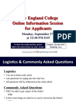 New England College Online Sept 27th Info Session for Applicants