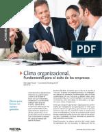 Clima Organizacional, Fundamental Para El Éxito de Las Empresas