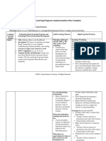 j5 professional learning programs implementation plan template