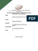 Derecho Presupuestario y Sus Normas