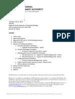 RTA BOARD OF DIRECTORS MEETING AGENDA (7.19.18)