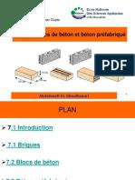 Chapitre 7 Briques, Blocs de Béton Et Béton Préfabriqué