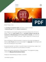 VIP-Uitnodiging stad Blankenberge Radio 2 Zomerhit