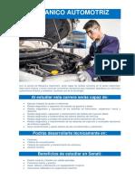 Mecánico Automotriz - Carrera Técnica en SENATI, para personas que trabajan