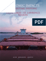 Economic Impacts of Maritime Shipping in the Great Lakes-St. Lawrence Region - executive summary