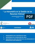 2- Hidrometria en La Gestion de Recursos Hidricos_Huanuco