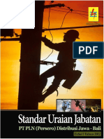 Standar Uraian Jabatan PT PLN (Persero) Distribusi Jawa-Bali Edisi 1 Tahun 2012